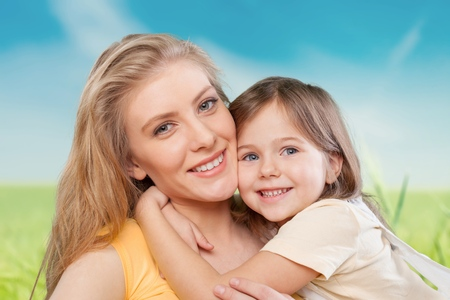 teeth smile: Mom.