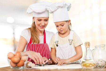 kitchen aprons: Cooking. Stock Photo