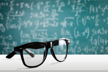 farsighted: Glasses.