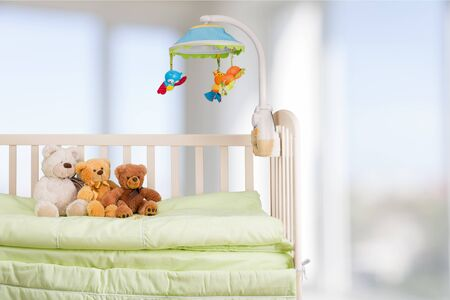 crib: Crib. Stock Photo