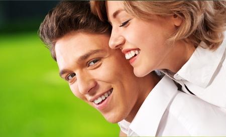 couple dating: Heterosexual Couple.