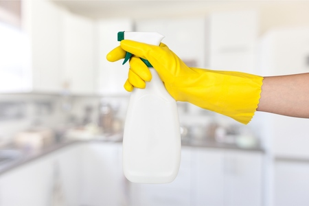 cleaning background: Cleaning. Stock Photo