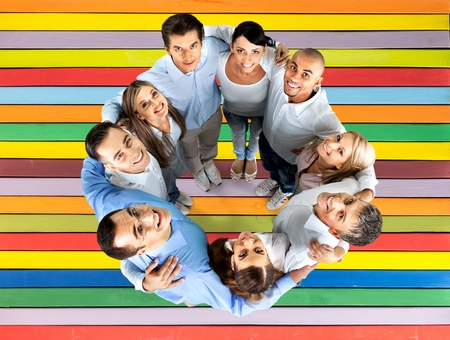 group strength: Group Of People. Stock Photo