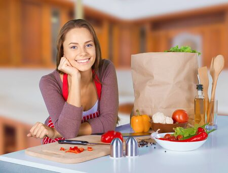 paper bag: Cooking. Stock Photo