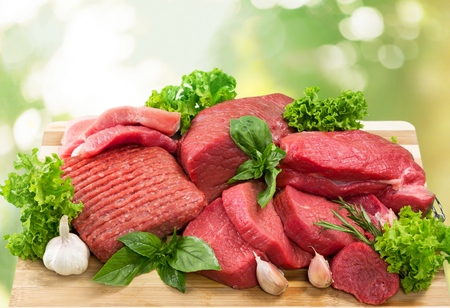 raw food: Meat.