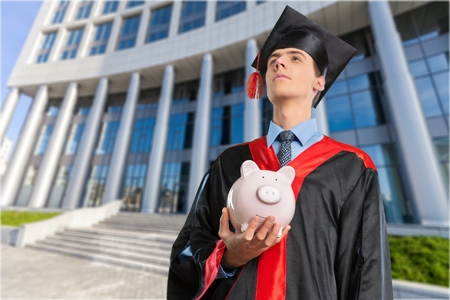 successful student: University. Stock Photo