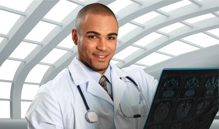 medical occupation: X-ray. Stock Photo