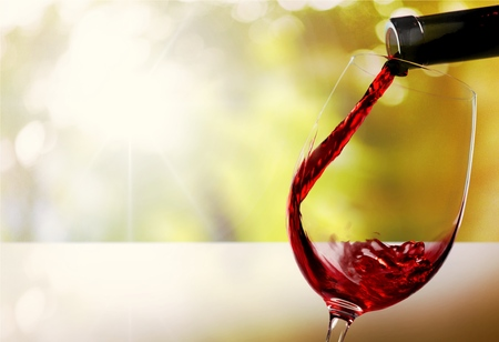bebiendo vino: Vino.  Foto de archivo