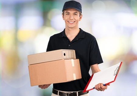 dropoff: Delivering. Stock Photo