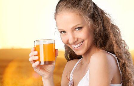 eating fruits: Juice. Stock Photo
