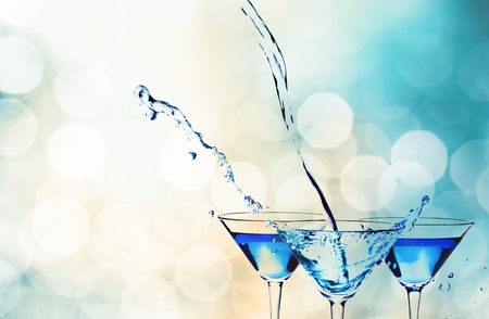 party background: Martini. Stock Photo