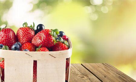 fruit basket: Strawberry.
