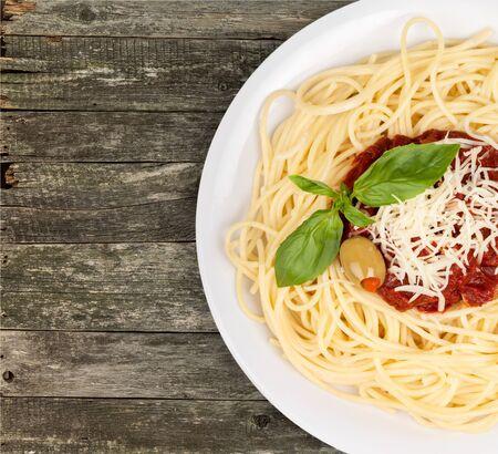 italienisches essen: Spaghetti.