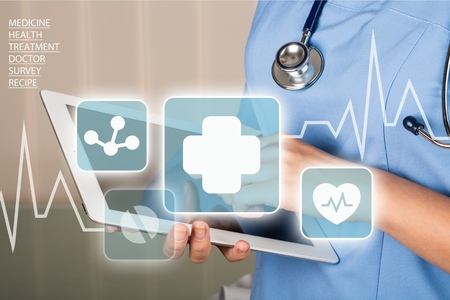 nurse computer: Healthcare And Medicine.