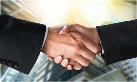 businessmen handshake: Handshake. Stock Photo
