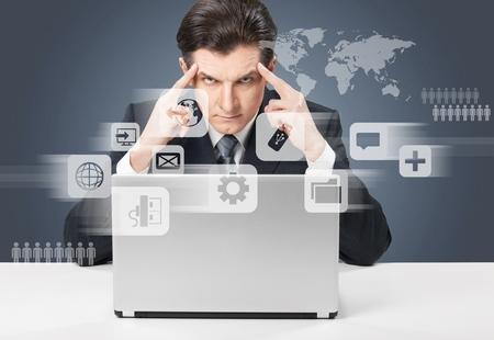 server technology: Icon. Stock Photo