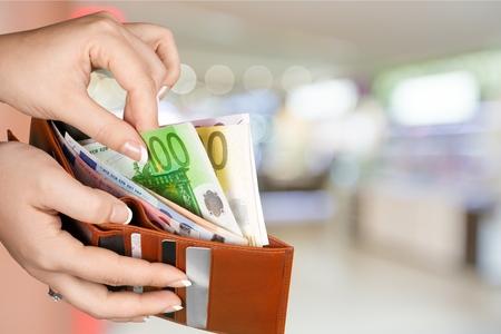 20 euro: Wallet. Stock Photo
