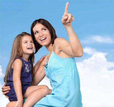 cute little girl: Mother.
