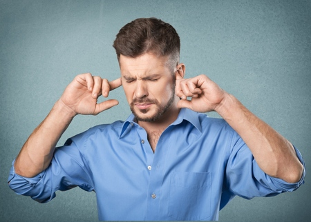 hands on head: Stress. Stock Photo