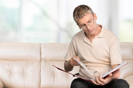 person reading: Reading. Stock Photo