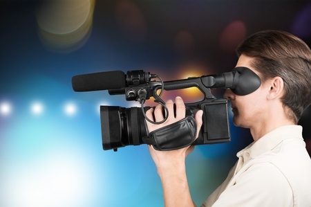 video still: Journalist. Stock Photo