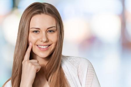 women smiling: Women smiling