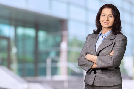 mature people: Women with working attire