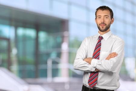 working attire: Businessman with working attire portrait
