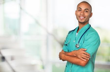 enfermeras: Retrato del doctor sonriente