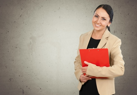 smiling face: Business woman with smiling face