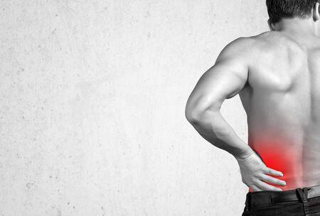 back ache: Pain.