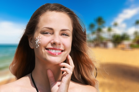 sunscreen: Sunscreen. Stock Photo