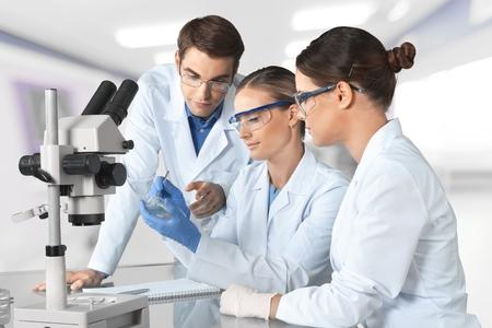 scientist woman: Laboratory.