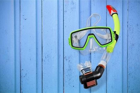 two objects: Snorkel. Stock Photo