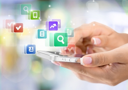 touch screen: Mobile Phone. Stock Photo