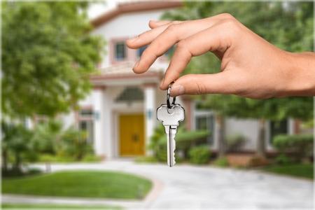 thumb keys: Key. Stock Photo