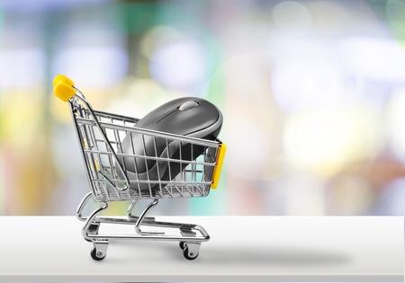 retail store: E-commerce. Stock Photo