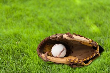 guante de beisbol: Guante de b�isbol. Foto de archivo