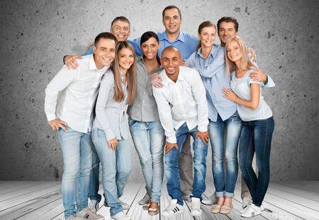 bonhomme blanc: Groupe de personnes.