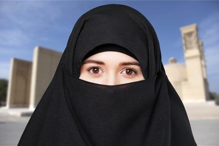 femme musulmane: Femme musulmane. Banque d'images