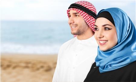 muslim: Muslim couple.