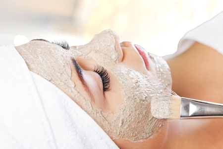 facial: Facial Mask. Stock Photo