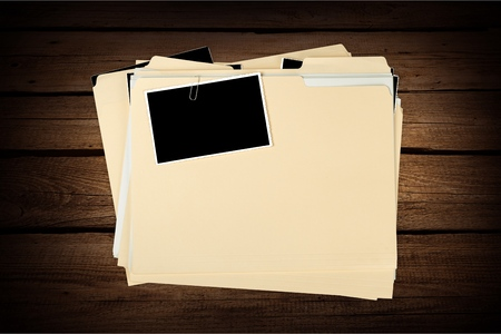 forensic science: File Records. Stock Photo