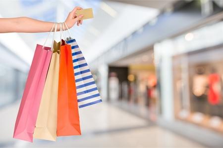 faire les courses: Carte de cr�dit commercial. Banque d'images