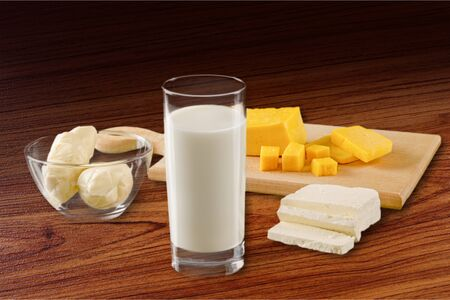 fat food: Milk and Cheese.