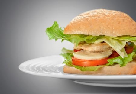 ciabatta: Sandwich Ciabatta. Stock Photo