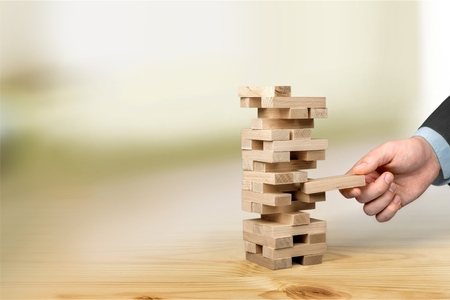 cubo: Estructura de edificio. Foto de archivo
