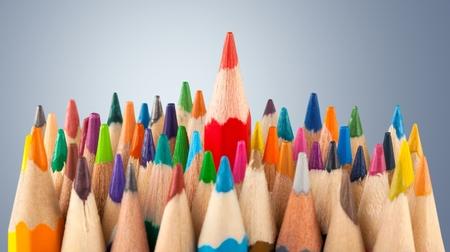 colored pencils: Colored pencils. Stock Photo
