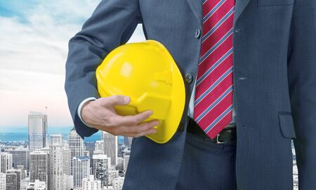 executive helmet: Safety Manager. Stock Photo
