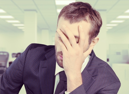 face work: Frustration and Sadness. Stock Photo